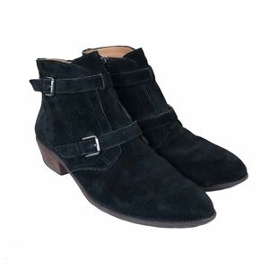 Franco Sarto Black Ankle Booties